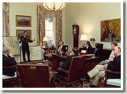 President George Bush at a Military Briefing, Washington, D.C., n.d.