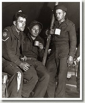 "Members of ""B"" Company, 1st Battalion, Royal Canadian Regiment, Korea, 13 October 1952."