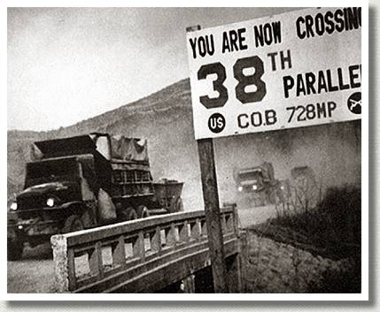 Crossing the 38th Parallel, Korea, 1950.