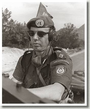 Canadian Peacekeeper in Convoy, Kyrenia, Cyprus, April 1965.
