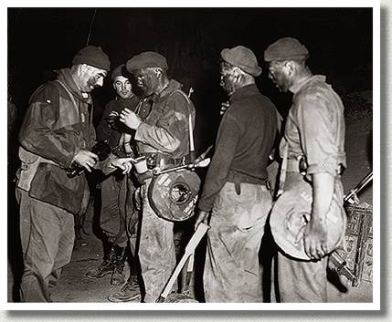 Preparing for a Night Patrol, Korea, 21 June 1952.
