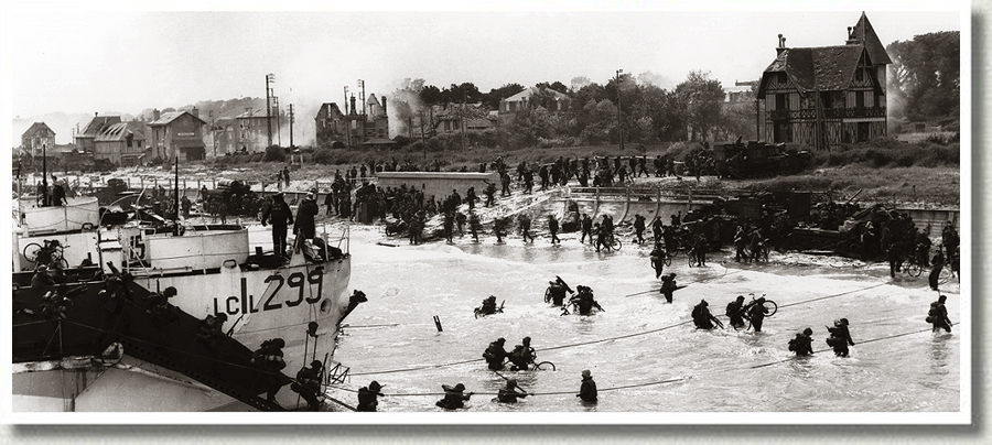 D-Day Landing on Juno Beach, Normandy, France, 6 June 1944.