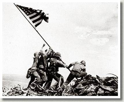 Flag Raising on Iwo Jima, 23 February 1945.