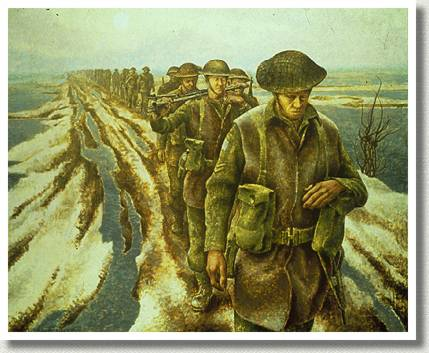 Infantry, Near Nijmegen, Holland, by Captain David [Alex] Alexander Colville.