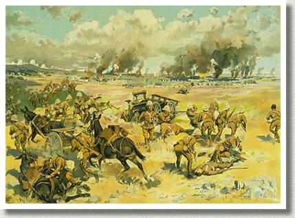 Canadians at the Battle of Paardeberg, February 1900, by Arthur H. Hider.