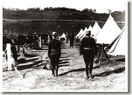 Canadian Mounted Rifles Camp, Edmonton, AB, 1906