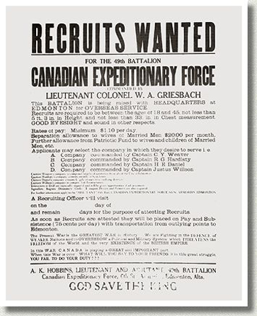 Recruiting Poster, 1915.