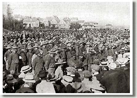 The 101st Regiment Leaving for Training, Edmonton, AB, September 1914.
