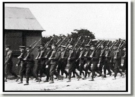 Forty-Niners on a March, Shorncliffe, England, 1915