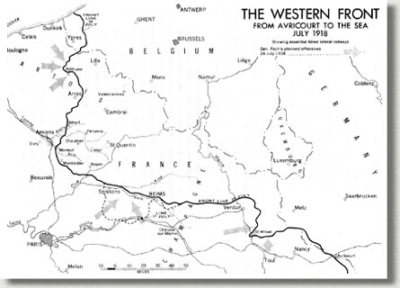 Western Front, First World War, 1914-1917.