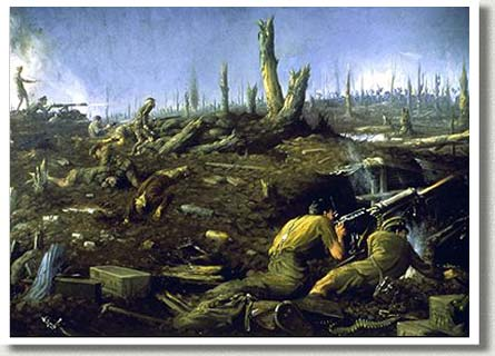 The Defence of Sanctuary Wood [June 1916], by Kenneth Keith Forbes.