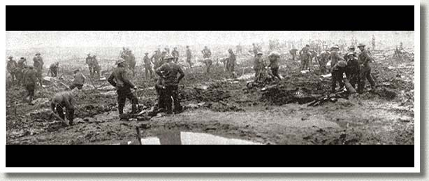 Canadian Pioneers Clearing the Battlefield, Passchendaele, France, 1917.