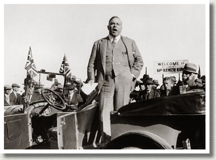 W.L.M. King during an Election Campaign, Cobourg, ON, 1926.