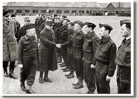 French General Maurice Gamelin Meets Officers of the Royal 22e Regiment, 1940.