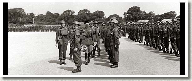 King George VI Presents Colours to Carleton & Yorks and the Edmonton Regiment, Britain, 1 July 1941.