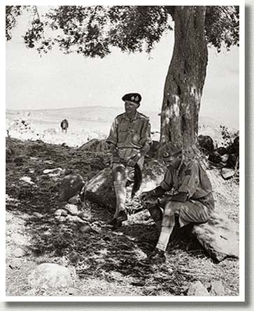 Generals Montgomery and Simonds Take Refuge from the Heat, Italy, n.d.).