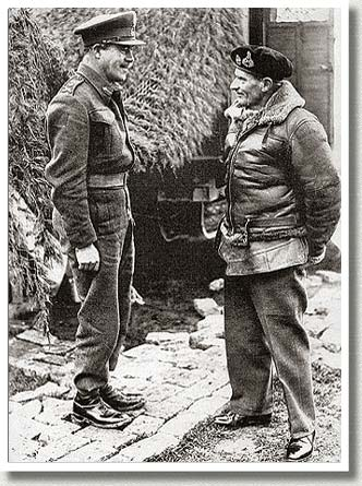 General Bernard Montgomery in Conversation with Major-General C. Vokes, Italy, December, 1943