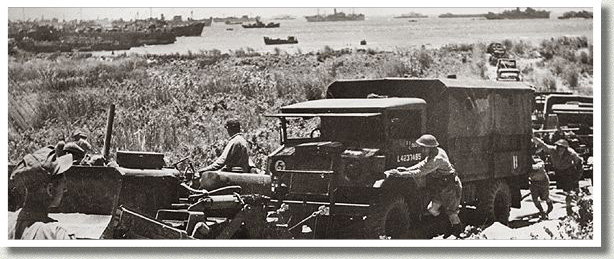 Bulldozer Clears the Way for Invasion Force, Passero, Sicily, July 1943