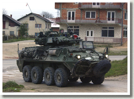 Coyote Armoured Vehicle on Patrol, 2002