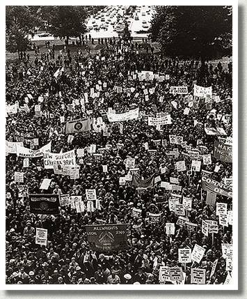Canadians Take to Streets in Massive Protest against Wage Controls, Toronto, Ontario, 14 October 1976.
