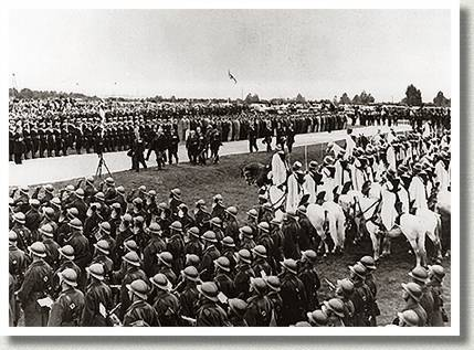 Unveiling of Canada's National Memorial at Vimy Ridge, France, 26 July 1936.