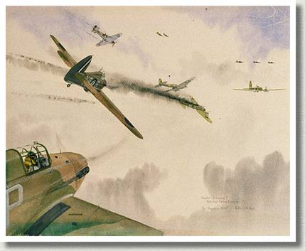 Hawker Hurricane I, by Philip De Lacey Markham.